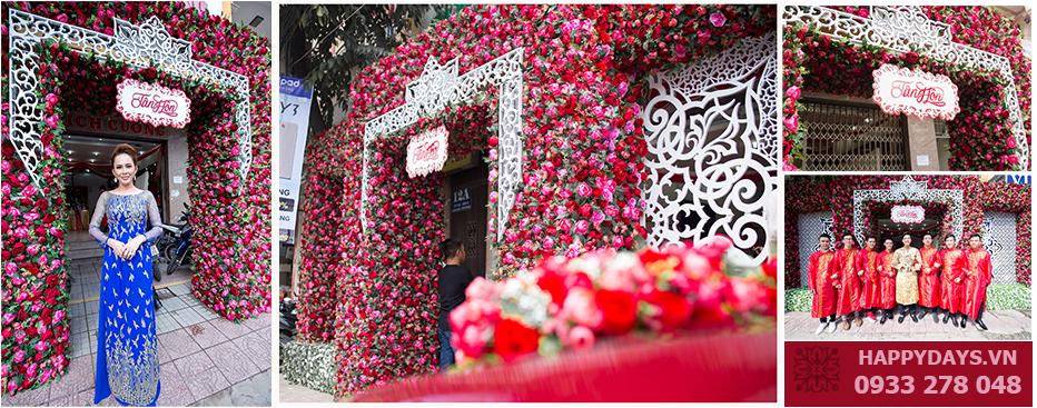 CỔng hoa cưới  thiết kế độc quyền , duy nhất chỉ có tại Happydays